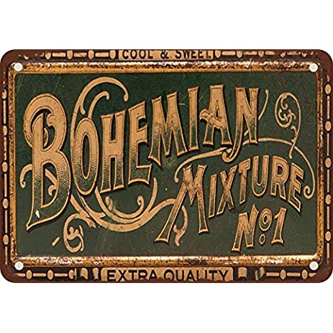 Bohemian Miscela n. 1Tabacco Stile Vintage Riproduzione in metallo Tin Sign 20,3x 30,5cm