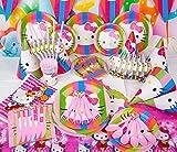 Hello Kitty komplett Party Supplies Kinder Geburtstag Set 6Gäste Teller Tassen Trinkhalme Hüte Party BAGD und mehr