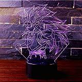 3D Lámpara de Escritorio Win-Y LED 7 del tacto del color de la...