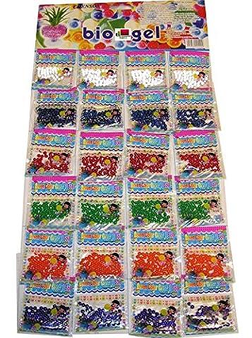 NMIT® 24 Bags Water Beads Water Crystal Aqua Gems Bio Gel Water Crystals Balls Crystal Soil Wedding Vase Decoration