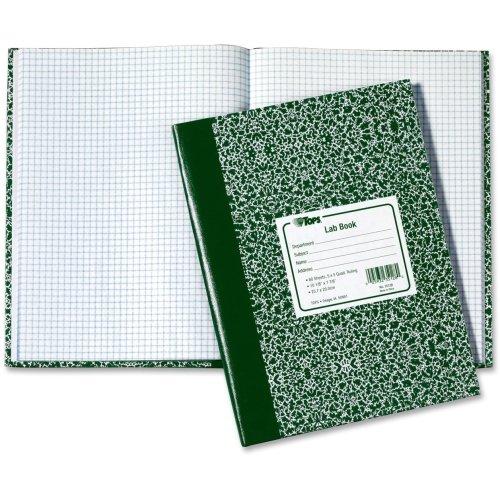 Tops Lab Book–60Blatt–liniert–7.75quot; X 10.38quot;–je 1–weiß Papier