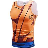 CTOOO Gilet Sportivo Fitness Maschile Estate Dragon Ball Naruto Maglietta Sportiva da Uomo Sportiva Gilet