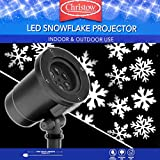 Indoor Outdoor Christmas LED Light Projector Spinning Snowflake Lighting