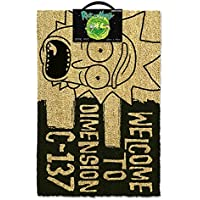 Rick & Morty GP85192 - Felpudo (60 x 40 x 1,5 cm), Color Negro