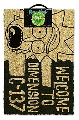 Pyramid International Rick & Morty - Doormat, Dimension C-137