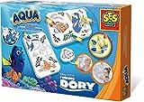 SES 13085 - Colora con Gli Sticker Finding Dory Aqua, Multicolore