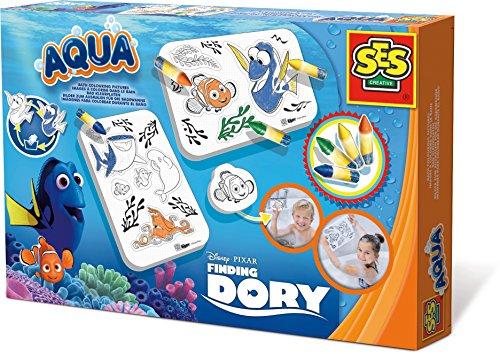 SES creative 13085 - Malen in der Badewanne Findet Dory, Kinder Bastelset, blau