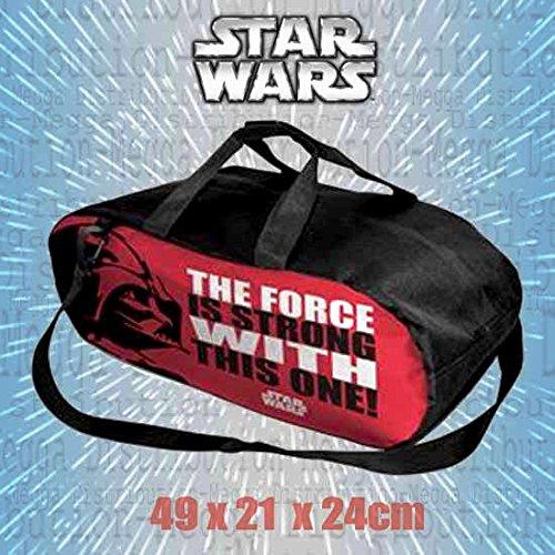Bolsa de viaje oficial de Star Wars, de 21 L, con correas ajustables para el hombro, para viajes, gimnasio y deportes