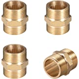 WenJ Female Thread Brass Hex Lock Nuts Fit Pipe Fitting Adapter Coupler Connector 10PCS 1//4 BSP
