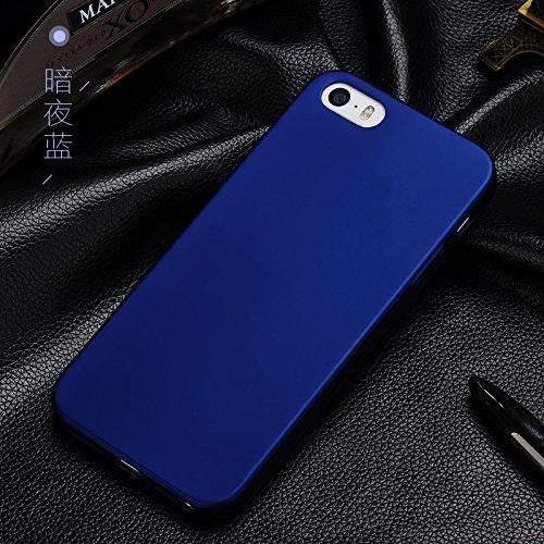 iPhone 6/6S Plus Coque + Protecteur d'écran en verre trempé, [Ultra Mince & Léger] Anti-Rayures Étui en plastique, Résistant aux empreintes digitales Housse, entièrement protecteur dur Case - Rouge Bleu