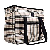 Ouguan® Classics Plaid Outward Hound Bauchtragetasche Staubsaugerbeutel für Kleine Hunde Robuste Polyester EN Plein Air für Haustiere Staubsaugerbeutel Besonders Atmungsaktiv