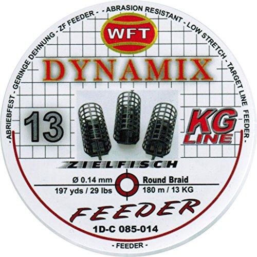WFT Round Dynamix Feeder blood red 180m, geflochtene Angelschnur zum Feederangeln, Schnur für Karpfen, Feederschnur, Durchmesser/Tragkraft:0.14mm / 13kg Tragkraft