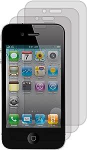 3X Folie Matt für Apple iPhone 4/4S Displayschutzfolie - Schutzfolie Anti-Fingerabdruck Displayschutz Displayfolie entspiegelt