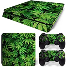 Sony PS4 Playstation 4 Slim Skin Design Foils Pegatina Set - Cannabis 5 Motivo