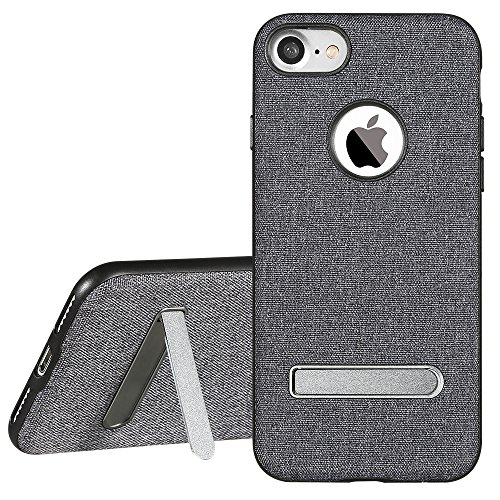 iphone 8 plus Hülle,iPhone 7 Plus Hülle, X-Level Leinwand Handyhülle Stütze Schutzhülle für iPhone 7/8 Plus (Gray) Gray