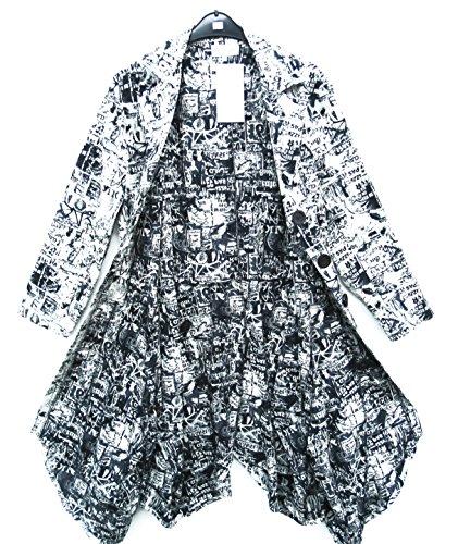 D'Celli Mantel Mantel Coat Manteau Manteo Jacke Jacket Veste XL 48 50 Lagenlook