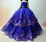 UK-36B Mode magnifique robe de soirée à la main pour la poupée Barbie robes / vêtements /robe de poupée (14)