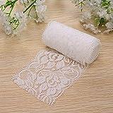 Bazaar 2m vintage merveilleuse dentelle blanche garniture de mariée parures de ruban de mariage couture artisanale