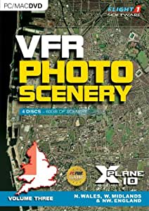 VFR Photo Scenery for X-Plane 10: Volume 3 North Wales, West Midlands and North West England (PC DVD)
