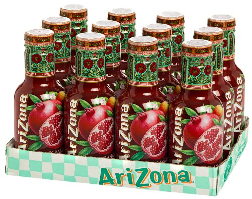 12 Flaschen Arizona Pomegranate Green Tea Pet inc. 3.00€ EINWEG Pfand (Honig Arizona)