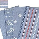 Jeansstoff - 100% Baumwolle /Deko- und Polsterstoff / bedruckt - Meterware 2,80m breit / Jeans - Stripes
