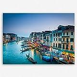 """!!! SENSATIONSPREIS !!! ge-Bildet® hochwertiges Leinwandbild """"Canal Grande in Venedig - Italien"""" Stadtbild Städtebild - Premium Leinwanddruck 30 x 20 cm einteilig"""