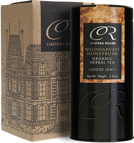 Chateau Rouge - Wildharvest Honeybush Tisane, Thé BIO en Vrac, Boîte 100g