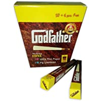 GOD FATHER Perfect Brown Smoking Pre Rolled Paper -50 + 6 Piece