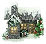 """Christmas Concepts® 19cm (7 """") LED Iluminar Casa de Cartón Corrugado - Decoraciones de Navidad - Ornamentos Tradicionales de Navidad"""
