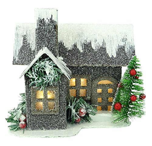"""Christmas Concepts® 19cm (7 \"""") LED Iluminar Casa de Cartón Corrugado - Decoraciones de Navidad - Ornamentos Tradicionales de Navidad"""