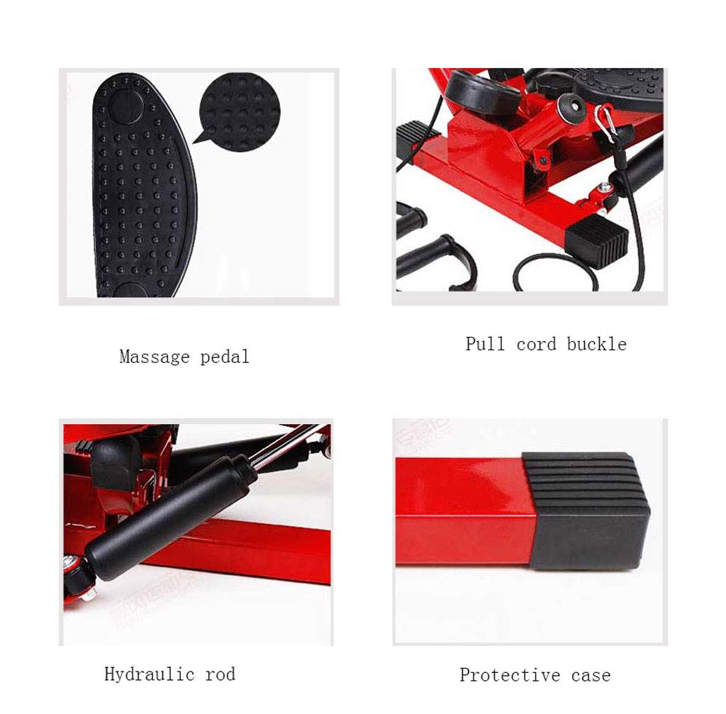 61ijagjwY1L - LY-01 Steppers Stepper,Mini Hydraulic Mute Stovepipe Thin Waist Machine Weight Loss Pedal Machine