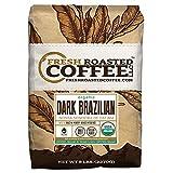Dark Brazilian Organic Fair Trade , Whole Bean Coffee, Fresh Roasted Coffee LLC (5 lb.)