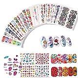 95fogli Nail Art Adesivi Unghie Vari Fiori Decalcomanie Auto-adesivo Stickers Decorazioni per Unghie(95 fogli)