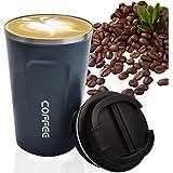 MOMSIV, tazza da caffè a doppia parete, riutilizzabile, a prova di perdite, isolamento in acciaio inox, ecologico, per viaggi