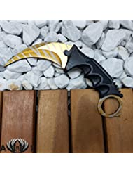 Knife–Tiger Tooth–Real Knife–csgo Karambit Couteau de survie