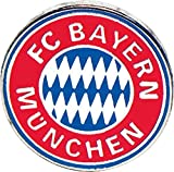Pin FC Bayern München Emblem - 1.5 x 1.5 cm + gratis Aufkleber, Flaggenfritze®