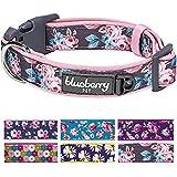 [Gesponsert]Blueberry Pet 2cm M Mittel Frühlingsgruβ Rosig Bedruckt Niedliches Neopren-Gepolstertes Hundehalsband
