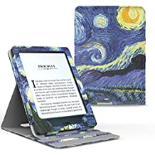 MoKo Kindle Paperwhite Funda - Premium Vertical Flip Smart Cover Case con Auto-Sueño / Estela para Amazon All-New Kindle Paperwhite (Compatible con 2012, 2013, 2015 y 2016), Noche Estrellada