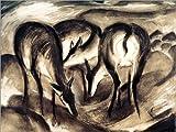 Posterlounge ALU Dibond 160 x 120 cm: Deer at Source de Franz Marc/akg-Images