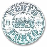2 x 10cm/100 mm Porto Portugal Autocollant de fenêtre en verre Voiture Van Locations #9708