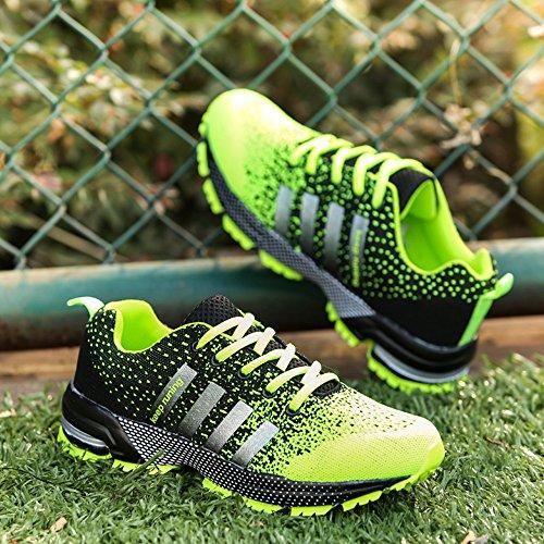Chaussures de course running sport Compétition Trail entraînement homme femme basket ete baskets Noir Rouge bleu 35-46 Vert