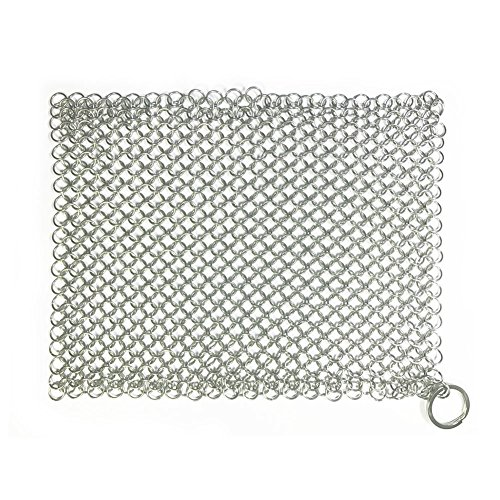 cast-iron-cleaner-stainless-steel-chainmail-scrubber-8x8-inch-for-pan