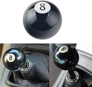 Younicer Einzigartig Number 8 Ball Billard Schalthebel Schaltknauf Hebel Abdeckmutter Schwarz Universal Für Die Meisten Fahrzeuge Autoinnenausstattung Auto