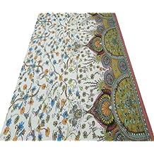 """43 Ancho de la tela de algodón blanco gasa floral Drape Material de Tela del vestido """"Costura Por 1 Yard"""