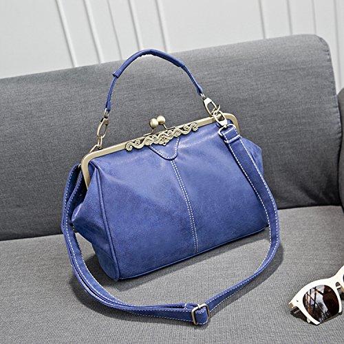Weibliche Handtasche Schulter Schief Gekreuzte Mattiert Damen Tasche Königsblau
