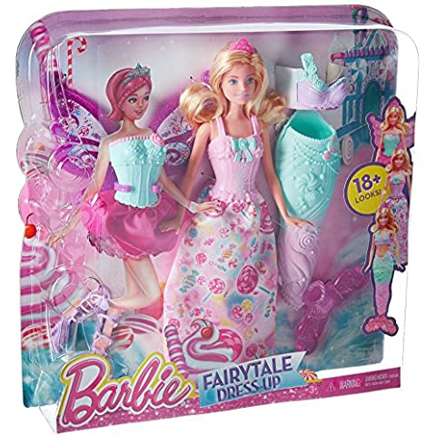 Barbie Fairytale DHC39 muñeca - muñecas (Chica, Multi, Vestido para muñecas, Zapatos, Femenino)