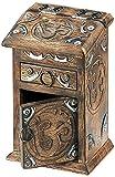 stealstreet 21,6cm Hand Holz geschnitzt Om Karton mit einer Schublade