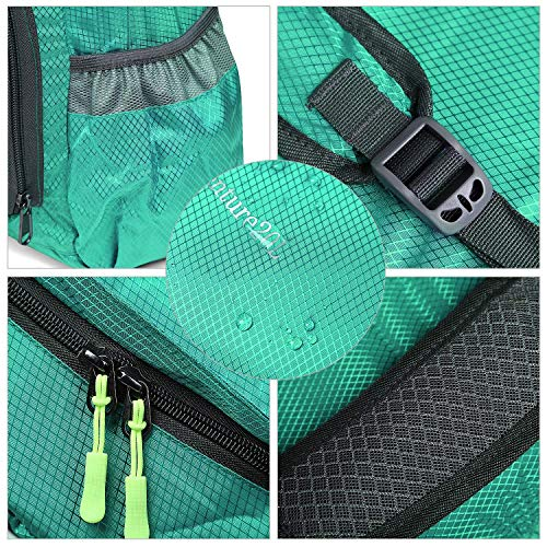 CLOMANA® Waterproof Foldable Multi Color Nylon Backpack for Multi-Function Use (Pack of 1) Image 5
