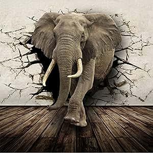 malilove 3d elefant wallpaper benutzerdefinierte wandbild vlies fototapete f r w nde 3d amazon. Black Bedroom Furniture Sets. Home Design Ideas
