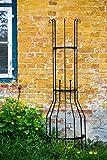KUHEIGA Wandrankgitter Schwarz H: 210cm Rankgitter aus Metall Rankhilfe